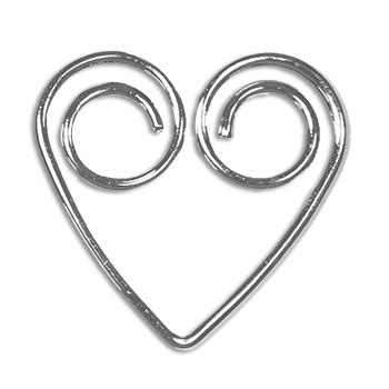 paper clips spiral decorative heart spiral shaped
