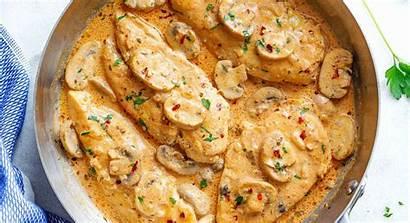 Chicken Creamy Parmesan Garlic Mushroom Recipes Mushrooms