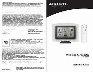 Acurite 01033 Weather Station User Manual