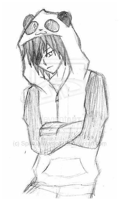 Hoodie Anime Drawing Guy Boy Drawings Uy
