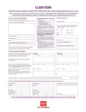 argos pet insurance reviews fill  printable