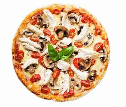 Pizza Transparent Cheese Clipart Chicken Mushroom Dish