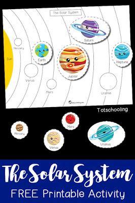 space nonstandard measurement activity totschooling 805   Solar System Printable Activity Preschool