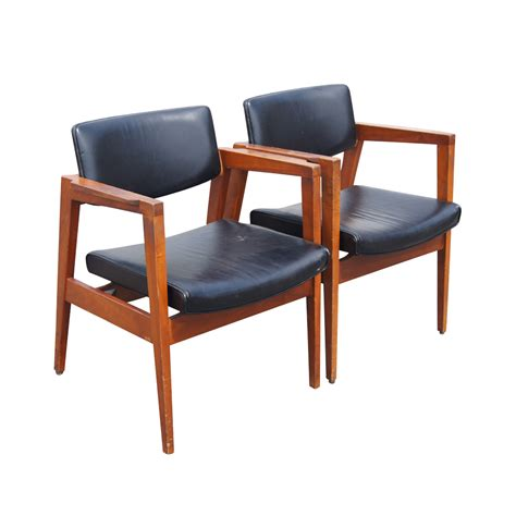 mid century floating back style arm chairs ebay