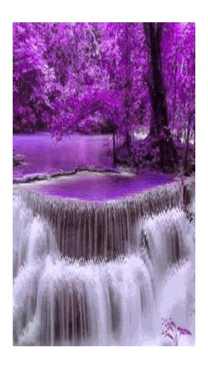 Waterfalls Gifs Nature Animated Landscapes Paisagens Waterfall