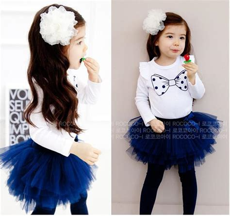 Toddlers Outfits Baby Sets Girl Suit Kids/Childrens Clothes Cute Printed T-shirt+Tutu Skirt ...