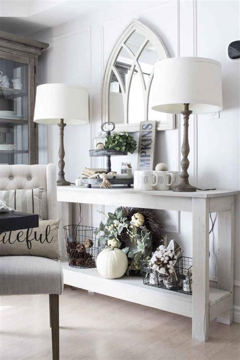 add simple fall farmhouse style   dining room