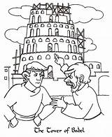 Babel Tower Coloring Bible Argue Torre Printable Para Colouring Colorear Van Biblia Genesis Template Play Toren Lecturas Activities Arguing Getcolorings sketch template