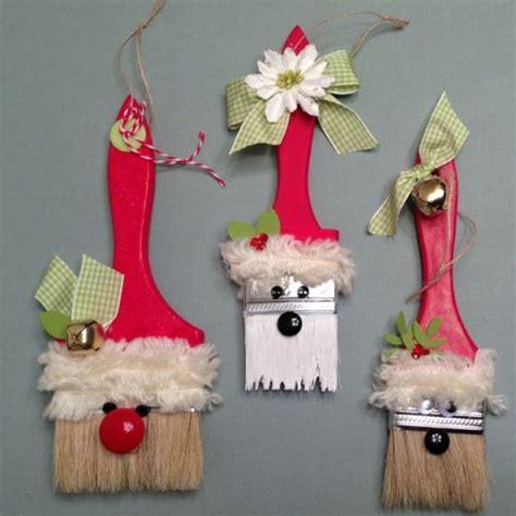 paintbrush santa ornaments  sisters scrapper