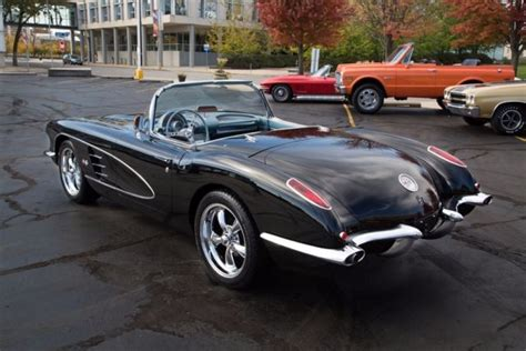 1959 chevrolet corvette convertible jet black roadster 447hp manual convertible for sale