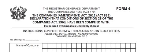 company registration form ghana registering a business in ghana company firmus advisory