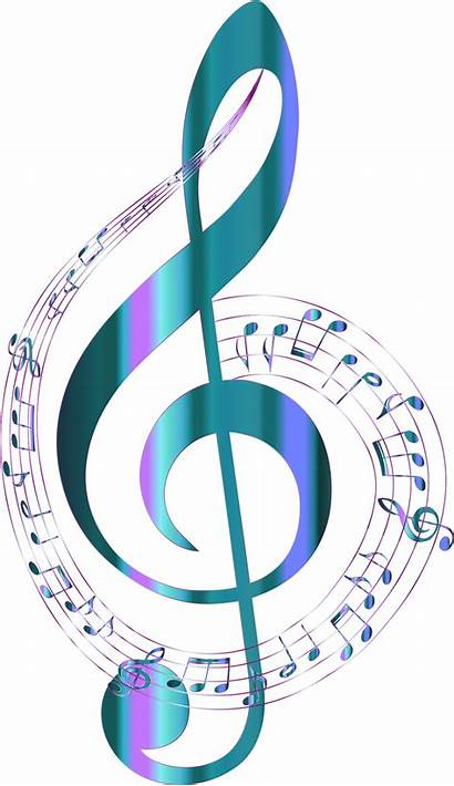Notes Background Musical Turquoise Typography Clipart