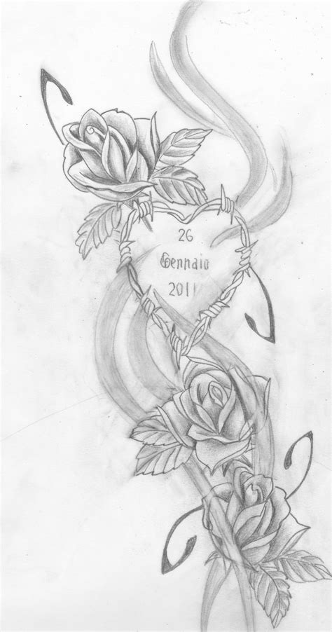 Bozza tattoo rose | America Rose | Heart tattoo designs, Pencil drawings, Rose tattoos