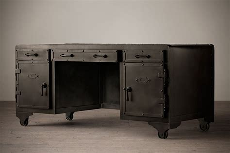 restoration hardware fulton desk impressive looking iron vault desk by restoration hardware