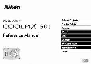 Nikon Coolpix S01 Manual  Camera Owner User Guide And