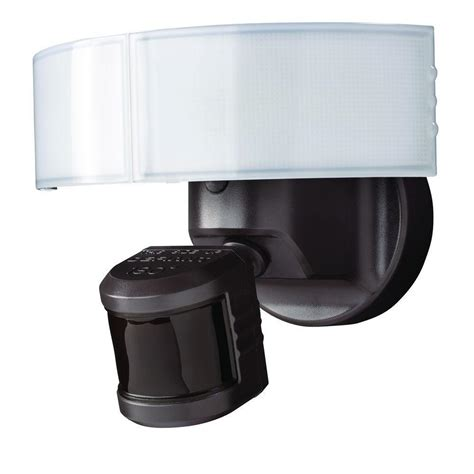 defiant led security light heath zenith 270 3 head motion sensing security light sl