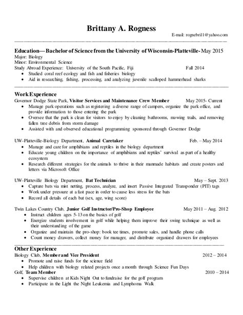 Resume With Coursework Listed by Resume And Completed Coursework List