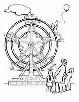 Coloring Ferris Wheel Muscle Tocolor Library Clipart Clip sketch template