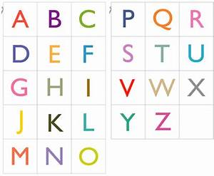 2 sets of free pdf with 26 printable alphabet cards in for Flash cards alphabet letters
