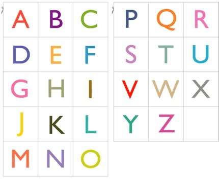 Free Printable Colored Letters  Printable 360 Degree