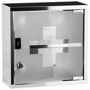 Grande armoire à pharmacie design de salle de bain en inox
