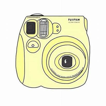 Aesthetic Yellow Stickers Drawing Drawings Camera Pastel
