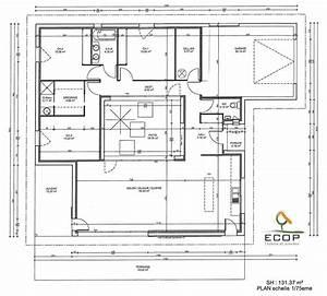 plan du patio d39une maison rt 2012 du constructeur ccmi With nice plan de maison de 100m2 6 construction villas bois constructeur de maison bois