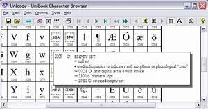 Unibook Character Broswer