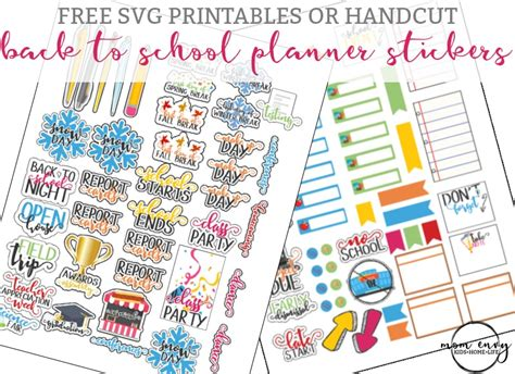 Get a new free font, free graphic and free craft each day. Back to School Planner Stickers - Perfect for Calendars, too!