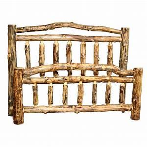 Log, Beds, Queen, Size, Aspen, Creek, Natural, Arch, Bed