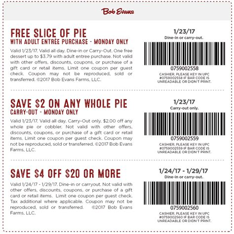 Bob Evans Coupons - Free pie & $4 off $20 at Bob Evans ...