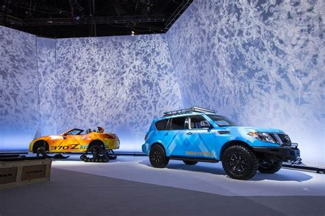 Nissan Car 370z Snow by Nissan Debuts Armada 370z Snow Concepts At 2018 Chicago