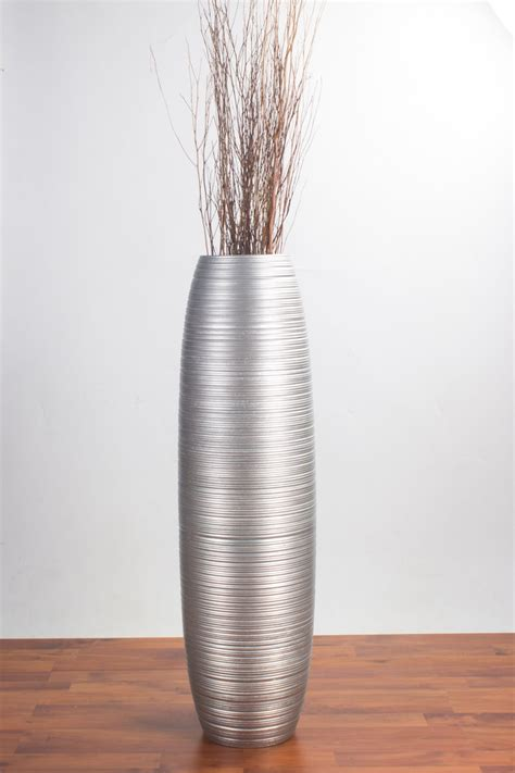 Gray Floor Vase by Big Floor Standing Vase For Home Decor 10x36 Inches
