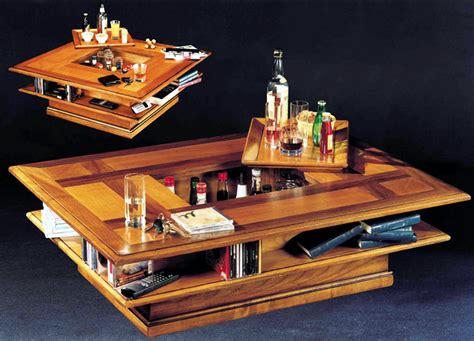 chambres à coucher modernes table basse bar rectangulaire merisier meubles turone