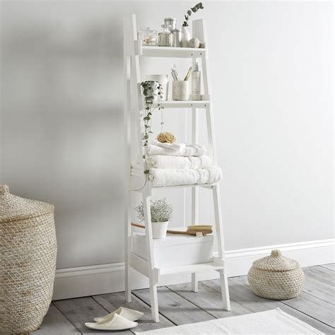 bathroom ladder shelf ideas  pinterest white
