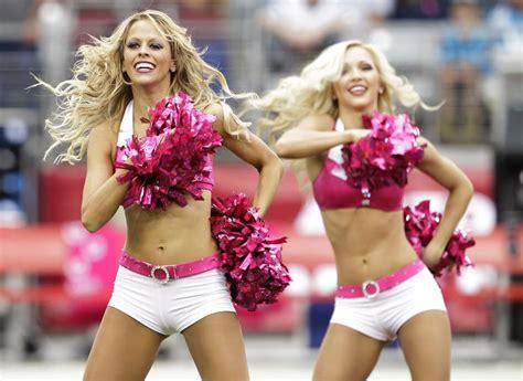nfl cheerleaders wear pink  breast cancer