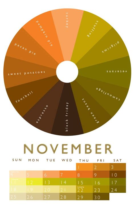 november colors 14 best images about color wheel 2012 calendar on