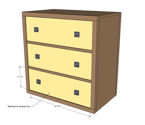 ana white build   drawer rolling dresser