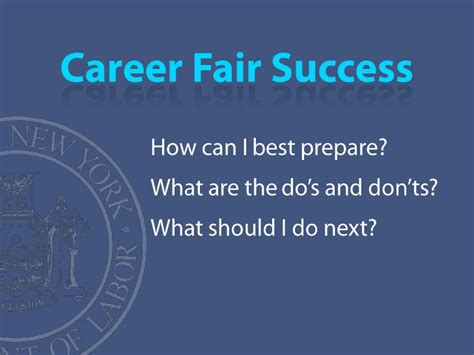 what to do at career fair career fair success