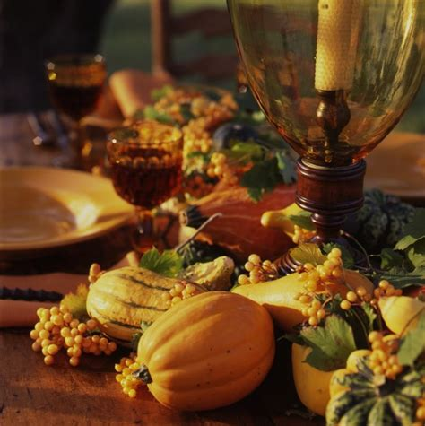 The Glassware And Service Are A Mix Of Autumn Yellows And
