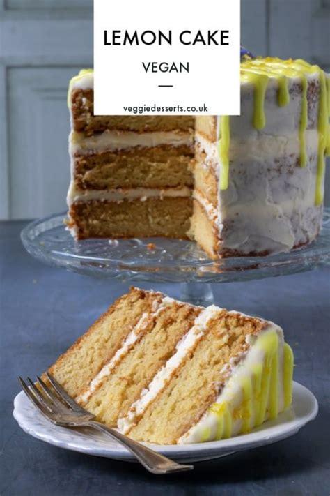 vegan lemon cake recipe   easy follow  step