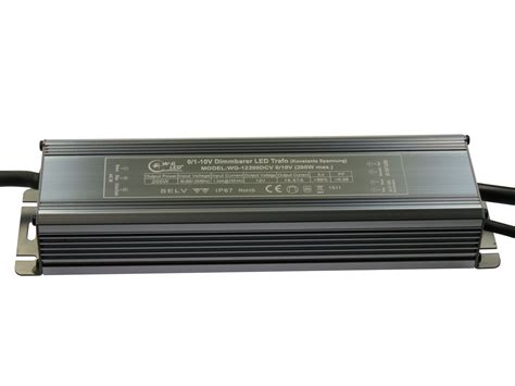 Dimmer Trafo by Mb Dimmbarer Led Trafo 12v Dc 200w Dimmbar Via 0 1 10v Ip67