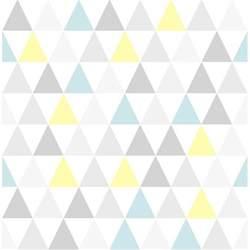 papier peint tarek bleu jaune scandinave graham brown