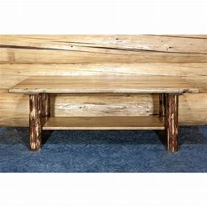 Montana woodworks glacier country puritan pine storage for Pine coffee table with storage