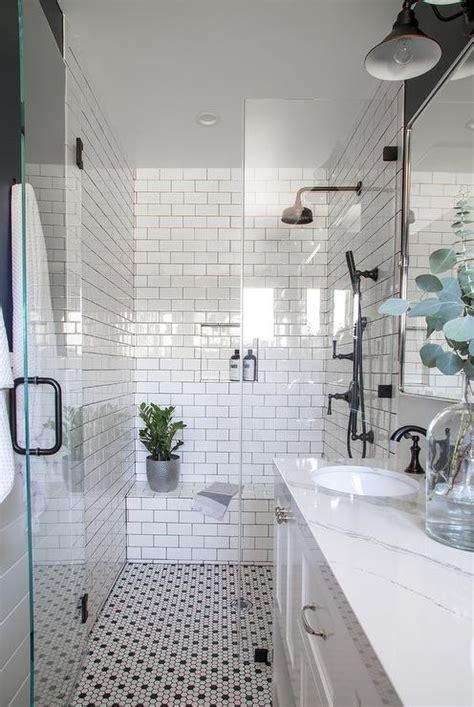 white bathroom  blue glass tile backsplash