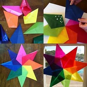 Fensterdeko Weihnachten Kinder : origami zu weihnachten falten 6 ideen mit faltanleitung ~ Yasmunasinghe.com Haus und Dekorationen