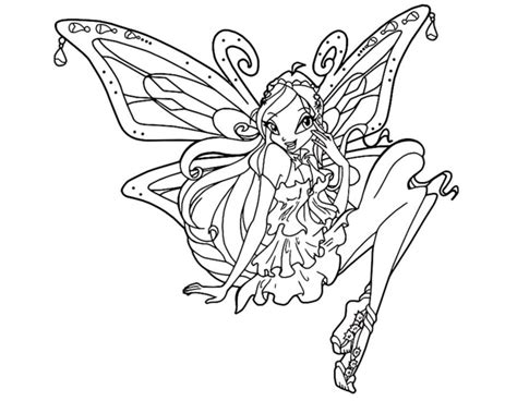 Winx Club Bloom Enchantix Coloring Pages