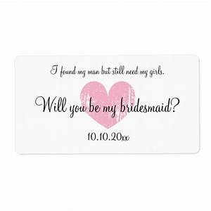 will you be my bridesmaid wine bottle labels zazzleca With will you be my bridesmaid wine label template
