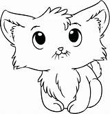 Coloring Pages Kitten Wind Newborn Chimes Kittens Cartoon Kitty Cats sketch template
