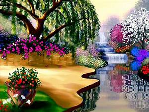 Flowers Gardens Wallpapers For Desktop Full Size | www ...